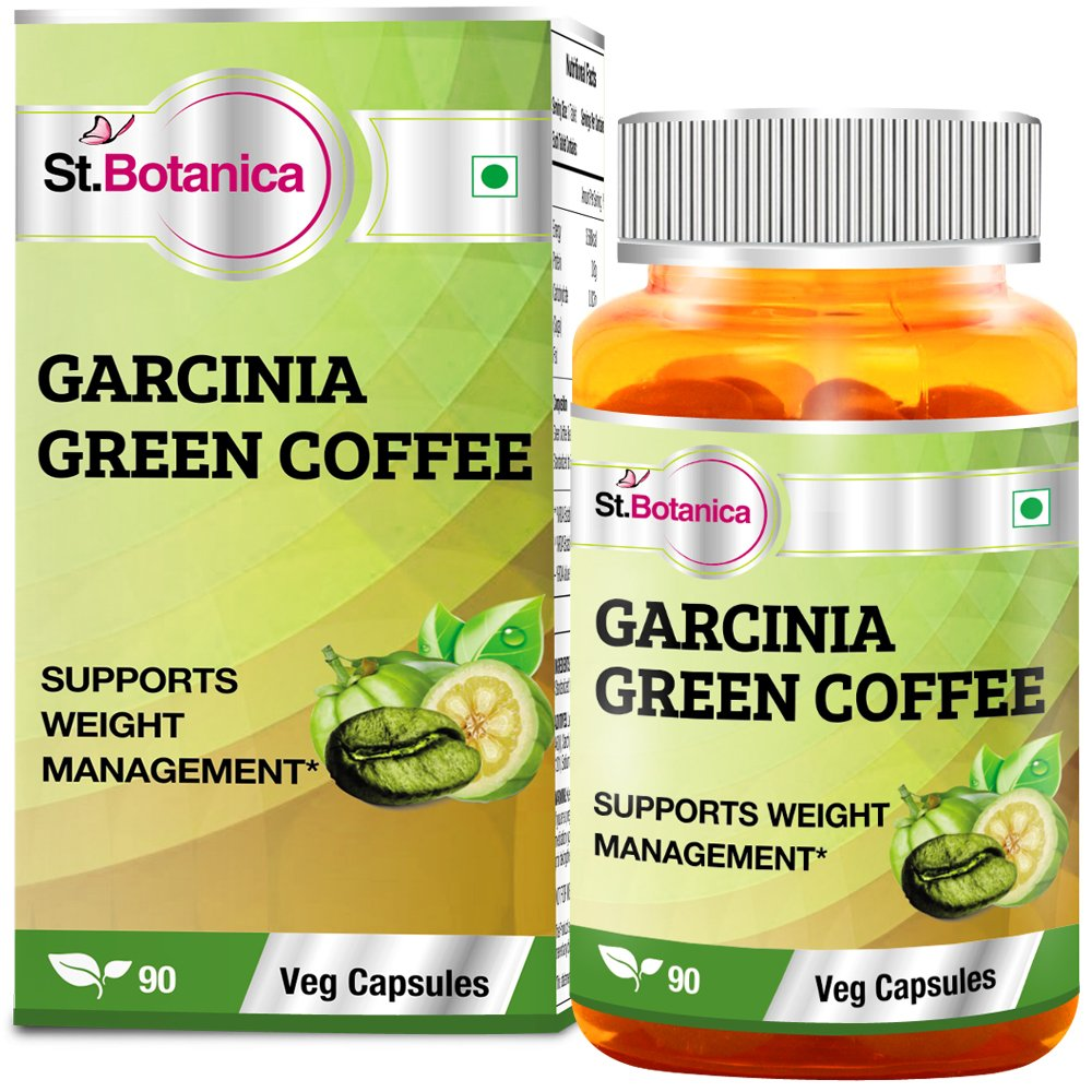 St.Botanica Garcinia Green Coffee Bean Extract - 90 Veg Caps- Pack Of 10 by St. Botanica (Image #2)
