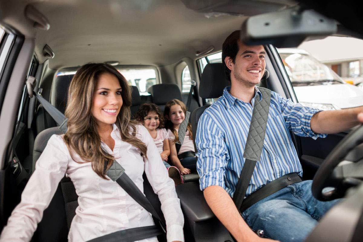 Shoulder Bag 2-Pack Soft Car Safety Seat Belt Strap Shoulder Pad for Adults and Children Gray Laptop Computer Bag Suitable for Car Seat Belt MIRKOO Car Seat Belt Cover Pad Backpack