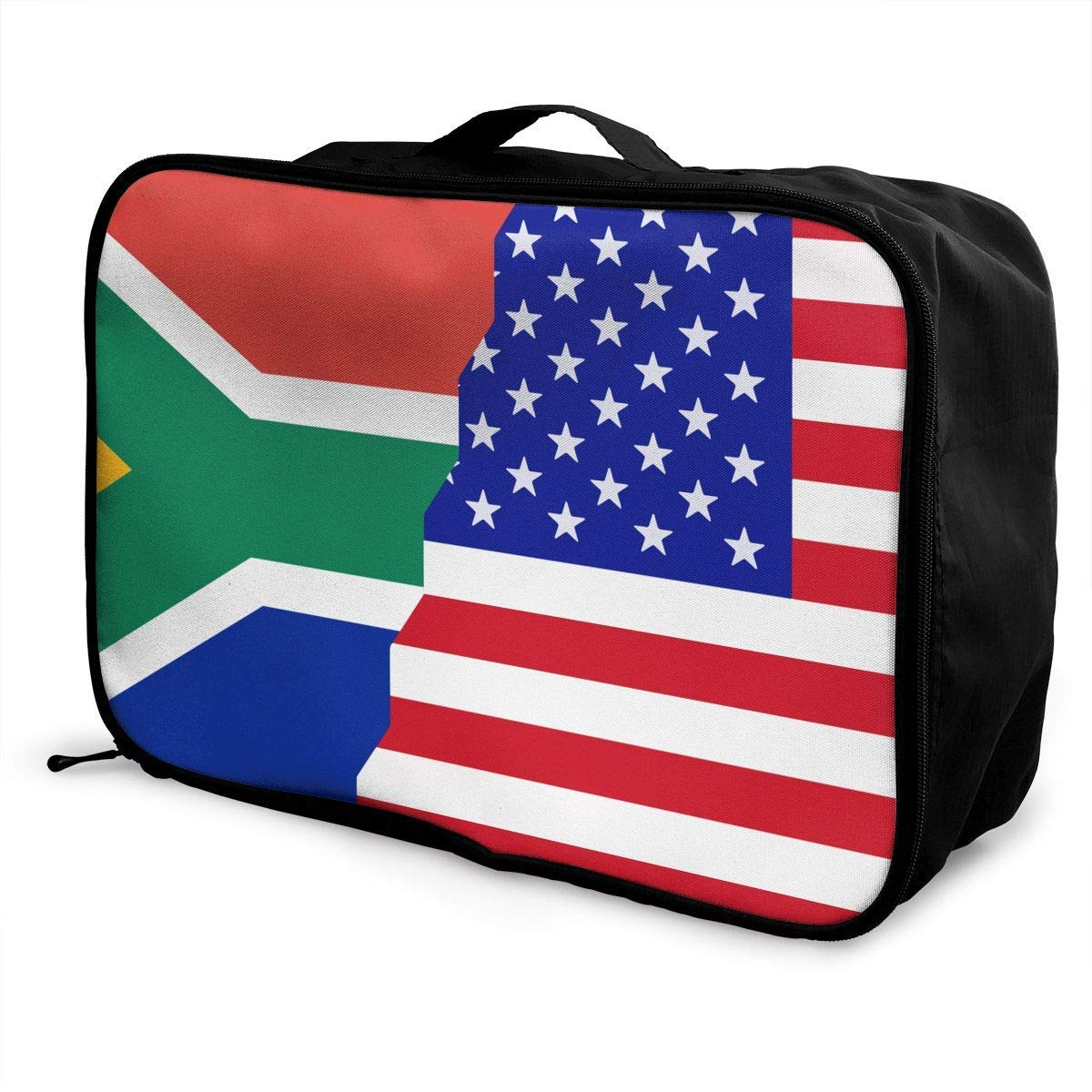 JTRVW American South African Flag Overnight Carry On Luggage Waterproof Fashion Travel Bag Lightweight Suitcases