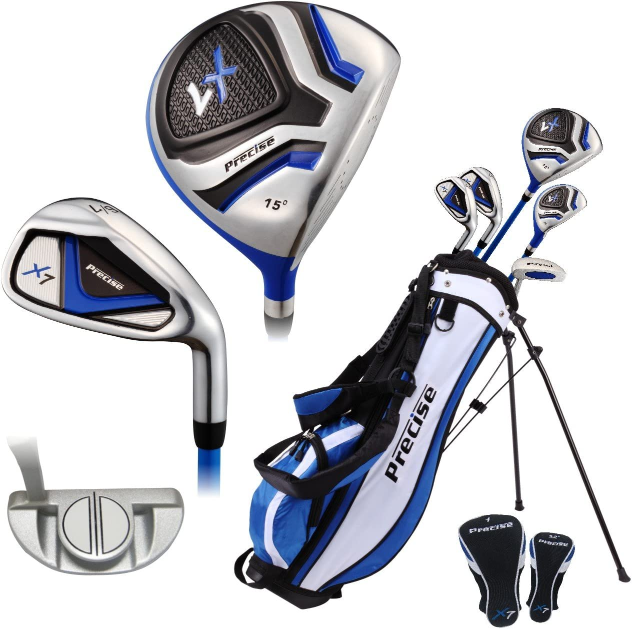 Amazon Com Top Performance Premium Junior Golf Club Set For Age 9 12 Right Hand Left Hand Boys And Girls Sports Outdoors