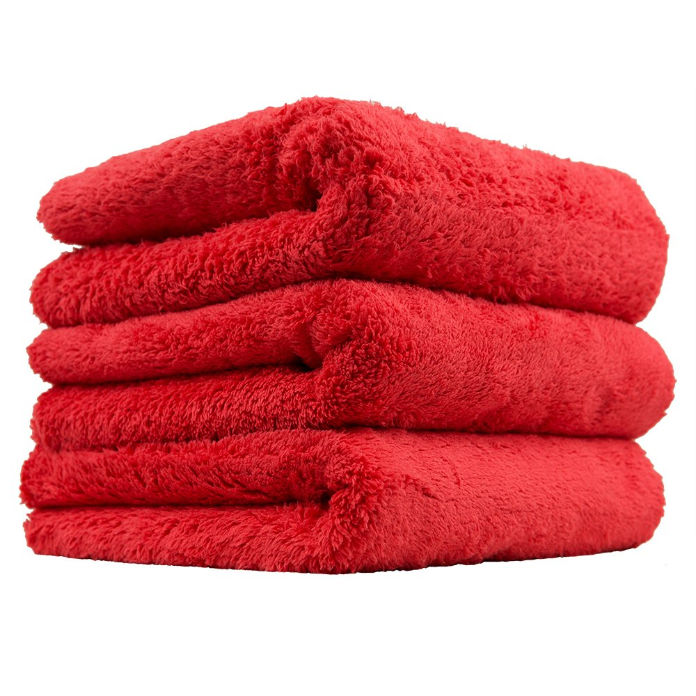 Chemical Guys MIC35106 Happy Ending Edgeless Microfiber Towel, Red (16 in. x 16 in.) (Pack of 6)