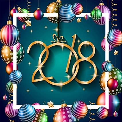 laeacco 6x6ft vinyl backdrop 2018 happy new year background photography background fantasy seasonal flyers greetings card
