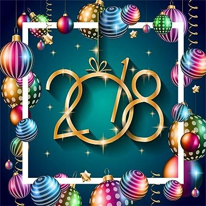 laeacco 6x6ft vinyl backdrop 2018 happy new year background photography background fantasy seasonal flyers greetings card
