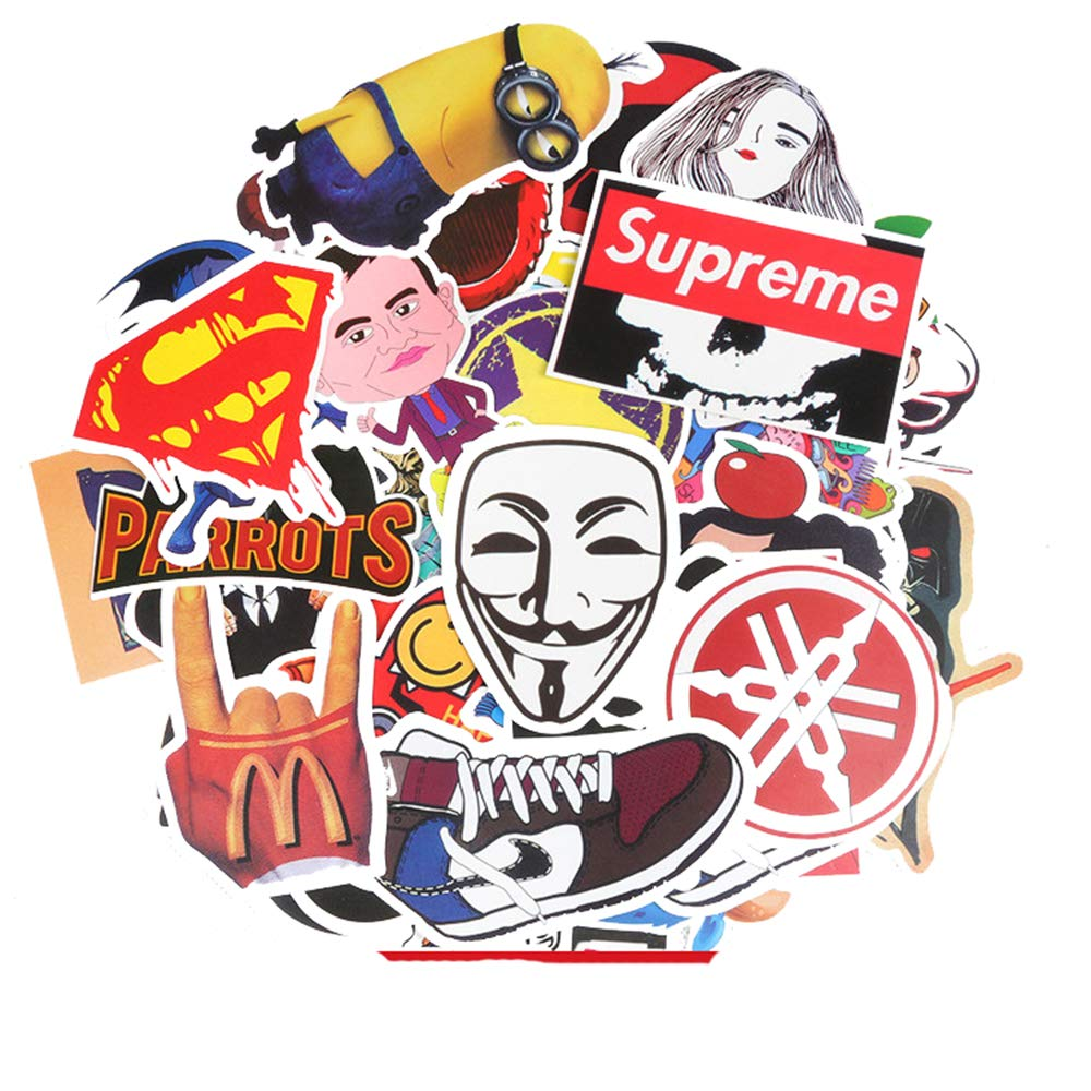 Love Sticker Pack 100-Pcs Sticker Calcomaní as Vinilos para Laptop, Niñ os, Coches, Motocicleta, Bicicleta, Equipaje de Skateboard, Pegatinas de Parachoques Hippie Decals Bomb Waterproof Niños Lyanther