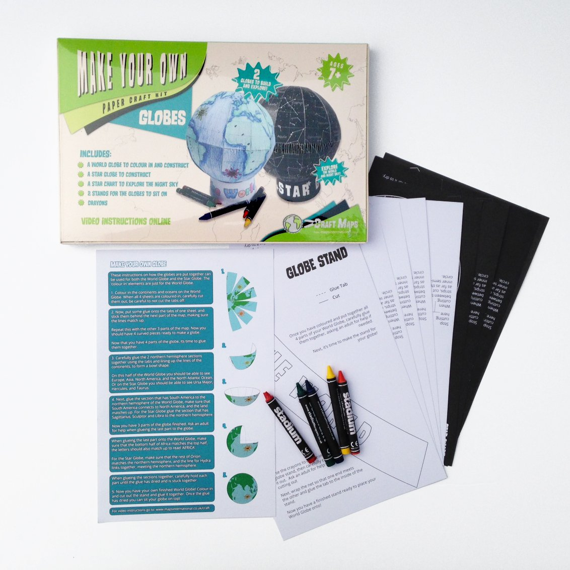Amazon make your own globes craft kit world globe and star amazon make your own globes craft kit world globe and star globe with crayons for children office products gumiabroncs Gallery