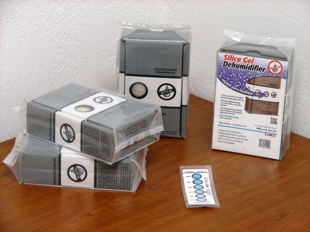 Hydrosorbent Silica Gel Desiccant Pack, Four 450g Packs, Silica Gell Dehumidifier