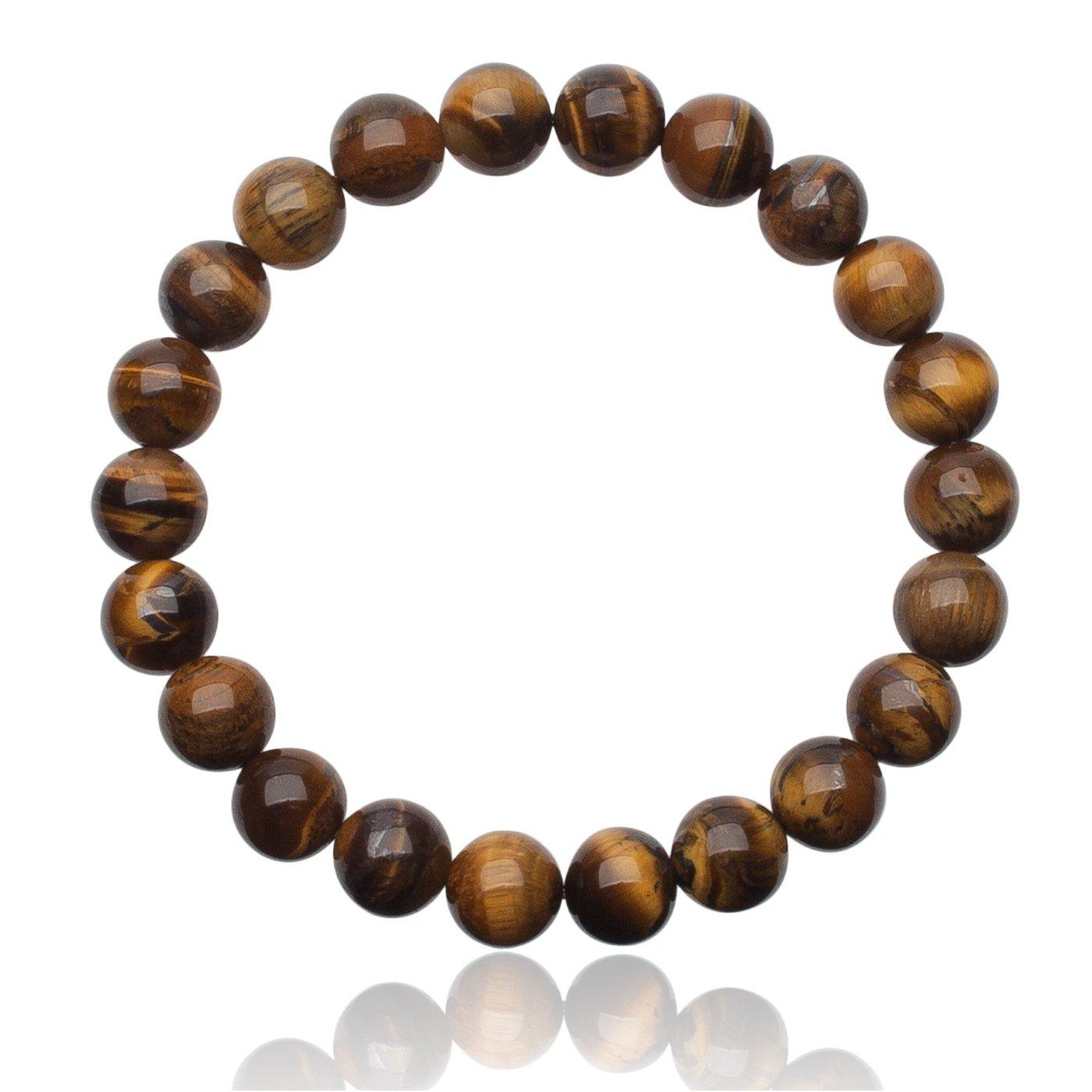 Unique bracelet Perles /Œil de tigre 8mm Grade AAA extensible one size fits all 16cm /à 20cm