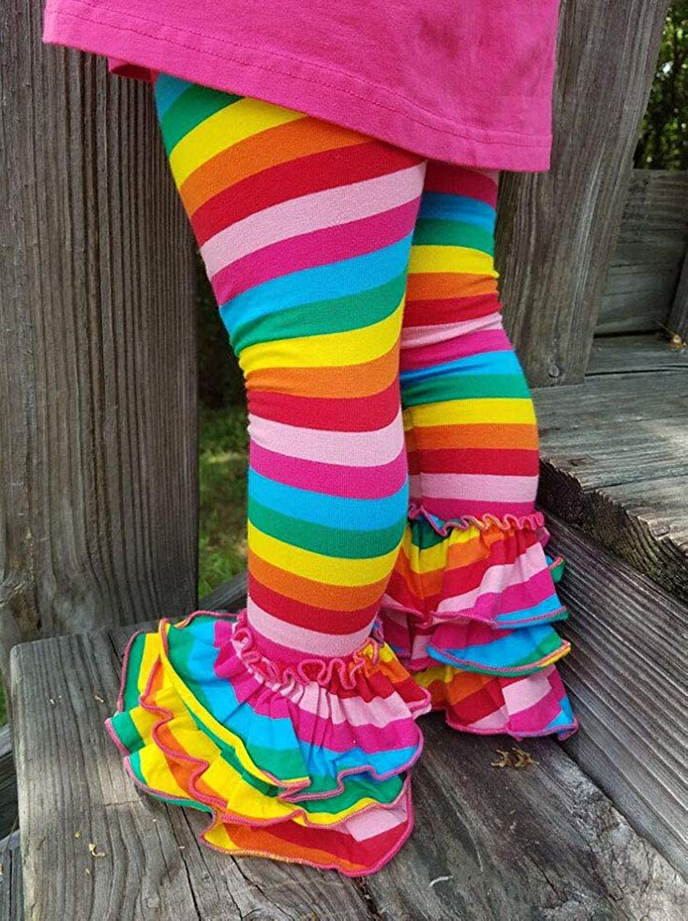 e7c2b507718e98 Amazon.com: Toddler Kids Baby Girl Rainbow Mermaid Ruffle Bottom Pants  Leggings Striped Fish Scale Icing Flower Trousers: Clothing