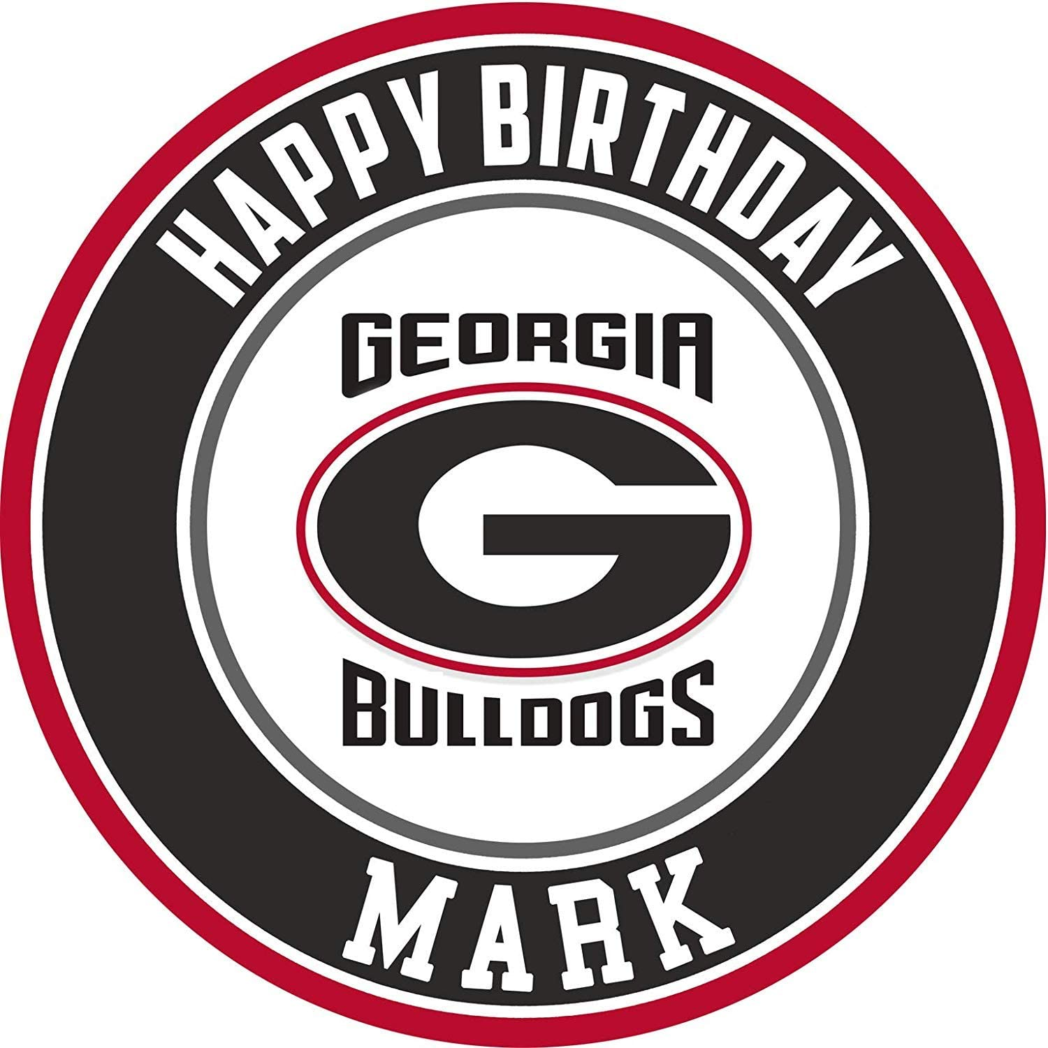 Awesome Amazon Com Georgia Bulldogs Edible Cake Topper Personalized Funny Birthday Cards Online Elaedamsfinfo