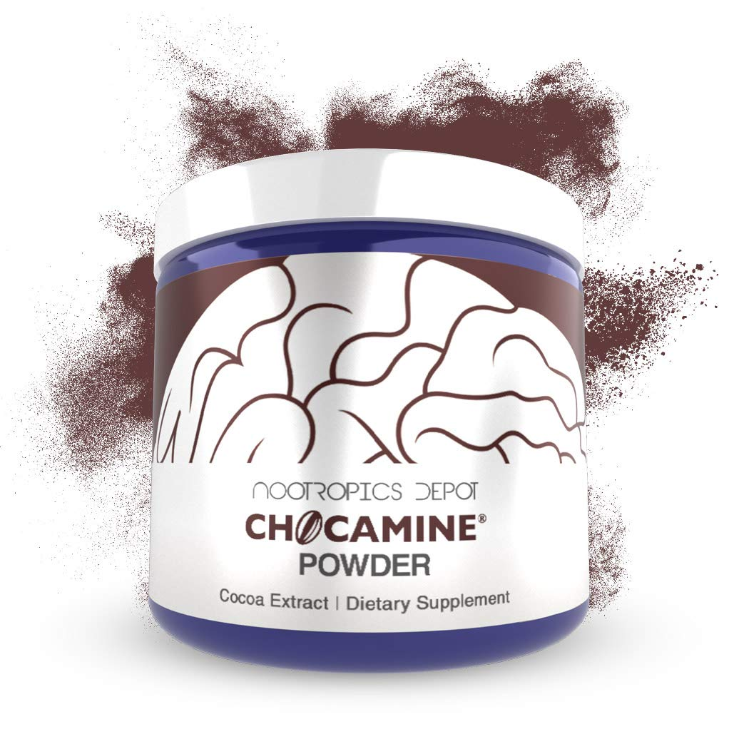 Chocamine Cocoa Extract Powder 125 Grams | Natural Antioxidant Supplement | Promotes Energy, Endurance and Stamina | Supports Mental Acuity, Concentration and Mood