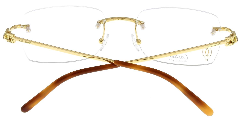 Amazon.com: Cartier Prescripción anteojos Montura Oro 18 K ...