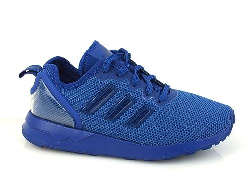 ADIDAS Zx Flux Adv EL I sneakers bimbo PELLE BLUE ROYAL BLU S76263 23