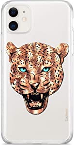 Coolwee Gold Foil iPhone 11 Case Slim Fit Rose Gold Leopard Women Girl Men Foil Clear Design Thin Hard Back Case Soft TPU Bumper Cover for Apple iPhone 11 Translucent Animal