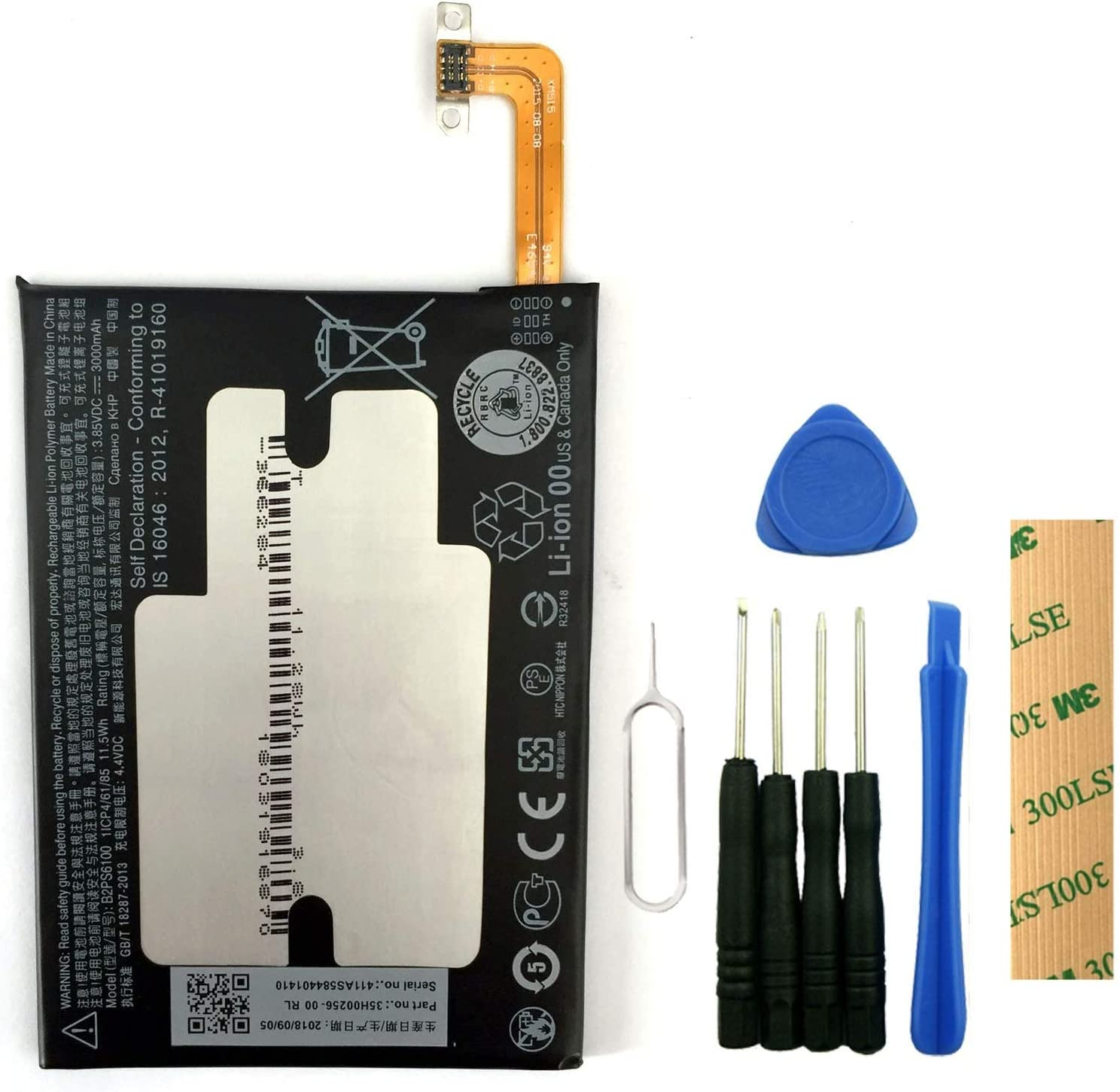 for Sprint HTC 10 2PS6400 Replacement Battery B2PS6100 Free Adhesive Tool