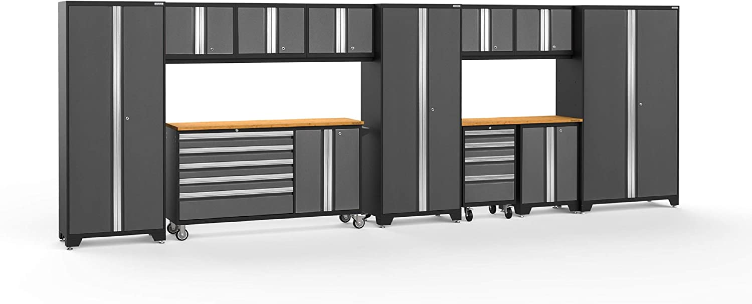 NewAge Products Bold 3.0 Gray 12 Piece Set 50516 Garage Cabinets