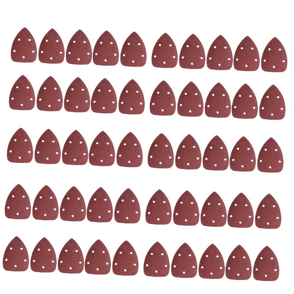 MagiDeal 50 Piezas De 140x90 Mm Lijado Hojas Triangle Sander Grinder Almohadillas De Papel - 120 Grit
