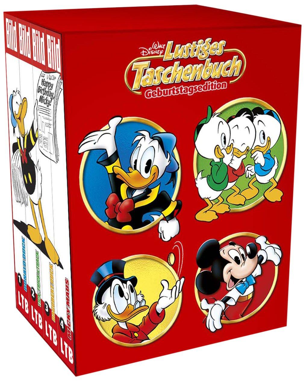 Lustiges Taschenbuch LTB Sonderedition Geburtstagsedition - 85 Jahre Micky Maus BILD Die besten Comics - Komplettset mit Band 1 + 2 + 3 + 4 von 2013