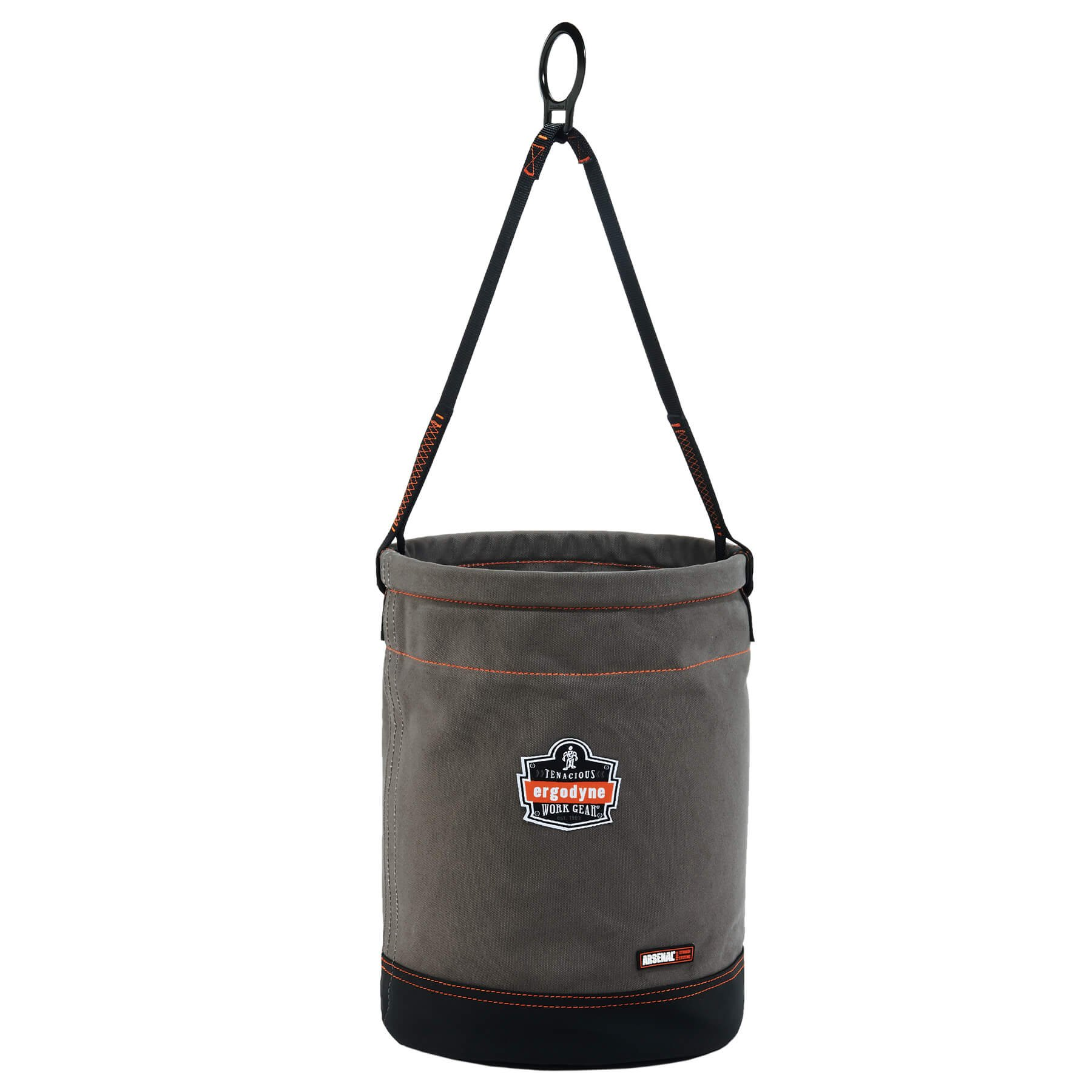 Ergodyne Arsenal 5960 Large Canvas Tool Bucket with Attachment Rings, Gray