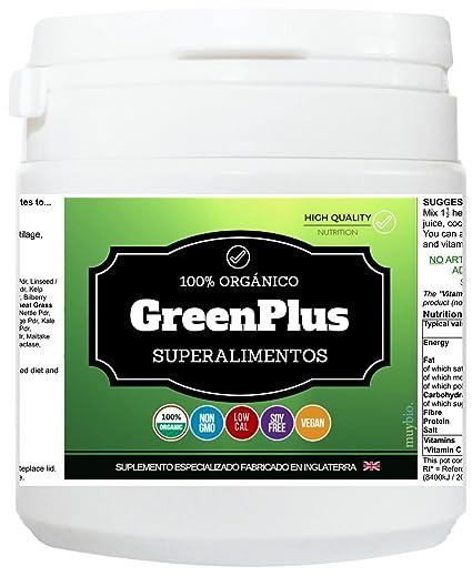 Superalimento en Polvo Verde GREENPLUS - 300g. de ...