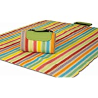 "Picnic Plus 48""X 60"" Mega Mat Picnic Mat Play Mat Beach Mat Waterproof Foam Padded Picnic Blanket Premium Quality, Seats 2-3 Persons Plus Gear"