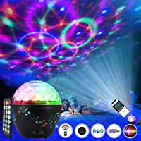 Luz de Bola de Discoteca Led 16 Colores, Pulchram Altavoz Bluetooth Lámpara de Discoteca Luz de Escenario Luz de Fiesta…