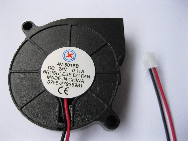 Amazon.com: 1 Pcs DC Blower Fan 24V 5015B 2 Pin 50x15mm Brushless DC ...