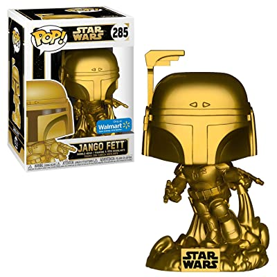 Funko Exclusive POP Star Wars: Jango Fett (Gold Metallic): Toys & Games