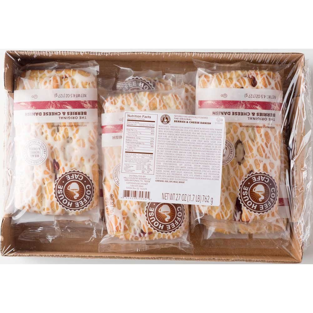 Coffee House Cafe Berries and Cheese Danish, 4.5 Ounce -- 48 per case.