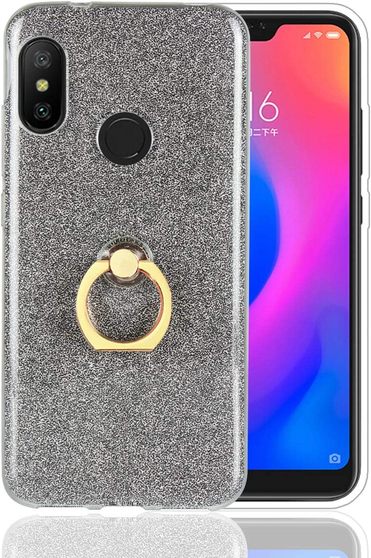 Funluna Xiaomi Mi A2 Lite Funda Dedo, Carcasa de Glitter Bling ...