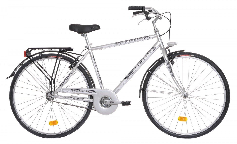 Atala - Bicicleta de paseo para hombre, deportiva, gris metalizado ...
