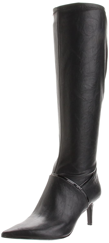 17b7c9dcf0e8 Nine West Alice Eve Womens Black Faux Leather Fashion Knee-High Boots UK  8.5  Amazon.co.uk  Shoes   Bags