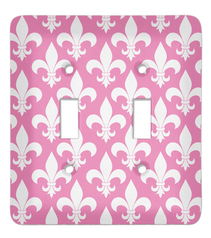 Decorative Electrical Outlet Plate Plug-in Cover Fleur de lis Cast Iron Antique White or Pick Your Color