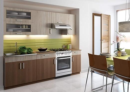 Muebles de Cocina Completa, 240 cms, Color Roble y Canela, Modulos ...