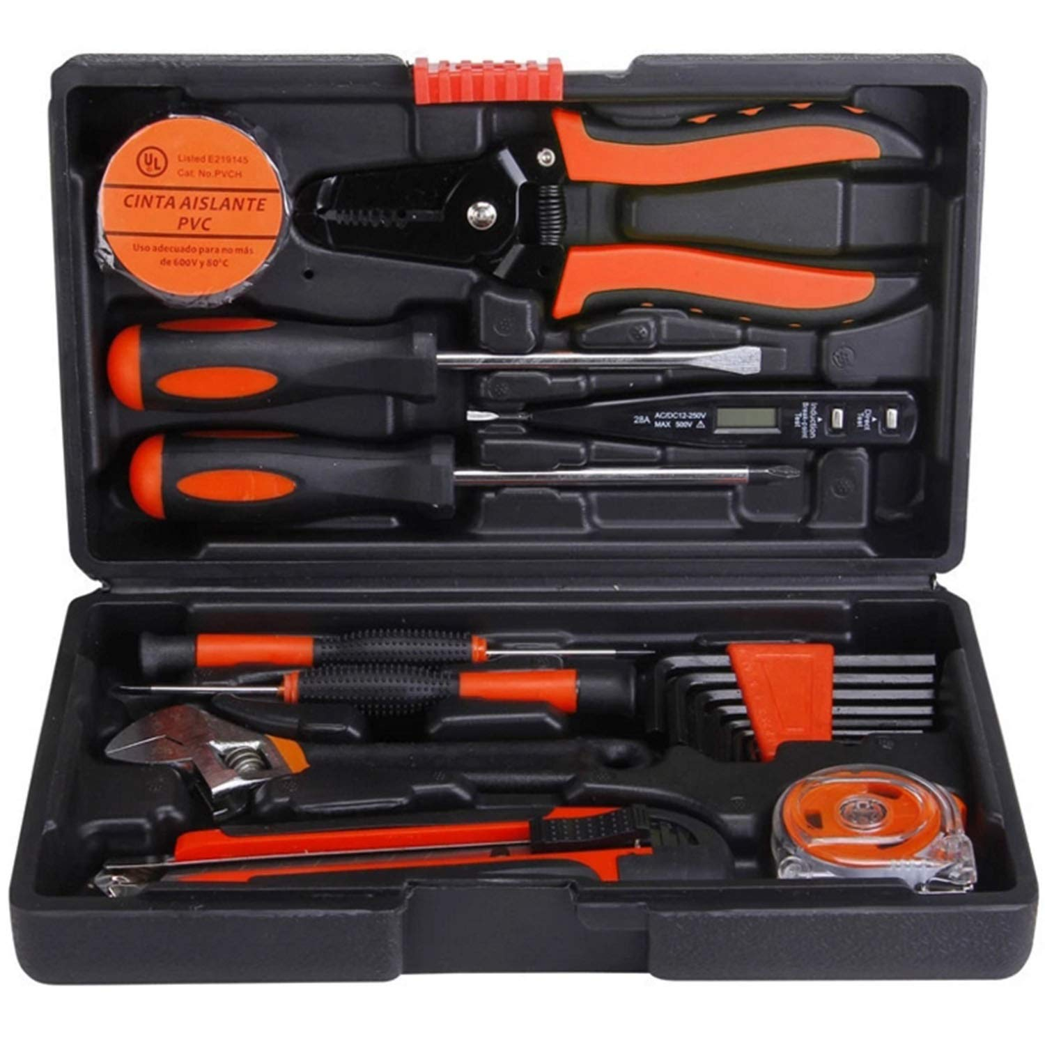 Your only family Practical Household Hardware Toolbox Combination Sets Hand Tools Electrical Repair Gifts 20 Telecommunications Tool Sets Durable