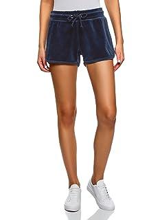 oodji Ultra Damen Frottier-Shorts mit Bindebändern  Amazon.de ... be69f41354