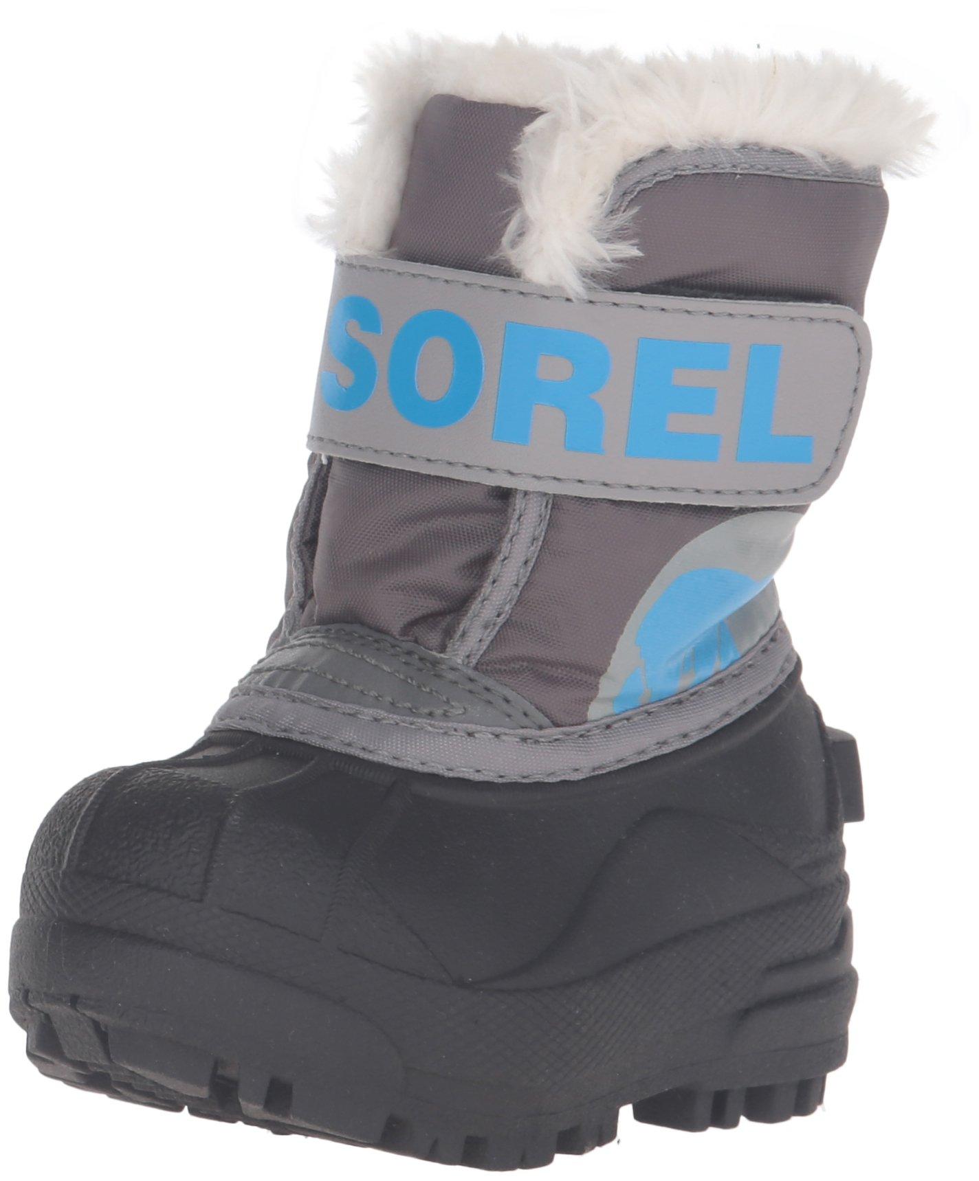 Sorel Commander-K Snow Boot, Dark Fog/Light Grey, 5 M US Toddler