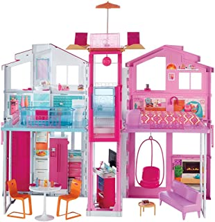 711i%2BSzzcSL._AC_UL320_SR310320_ amazon com barbie dreamhouse toys & games Barbie Dreamhouse at bayanpartner.co