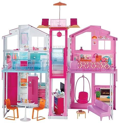 Barbie DLY32 La Casa di Malibu con Accessori e Colori Vivaci: Amazon ...