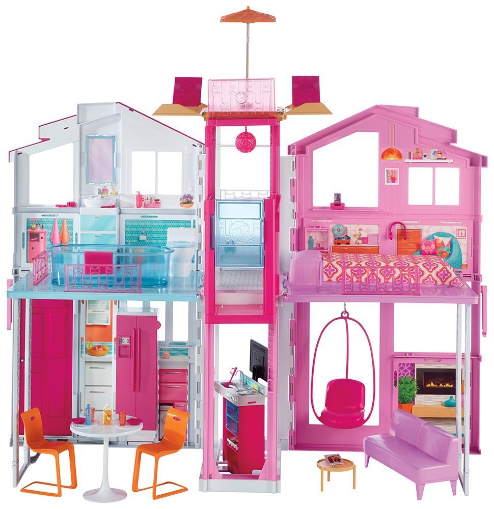 Barbie Pink Passport 3-Story Townhouse