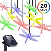 DecorNova 13 Feet 20 LED Dragonfly String Lights