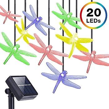 DecorNova 13 Feet 20 LED Dragonfly String Lights