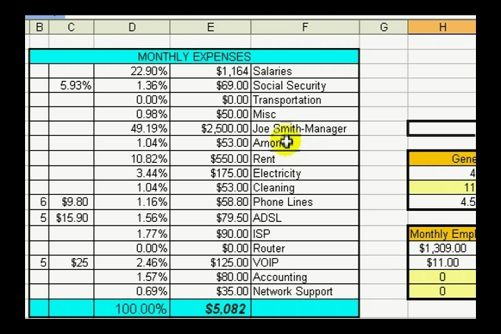 view a sample spreadsheet in microsoft excel