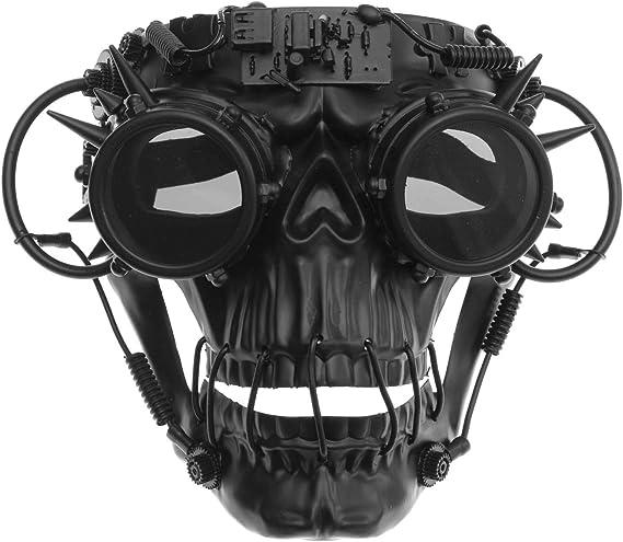 Gold Skull Steam Punk Unisex Costume Mask Halloween Dance Venetian Stud Cosplay