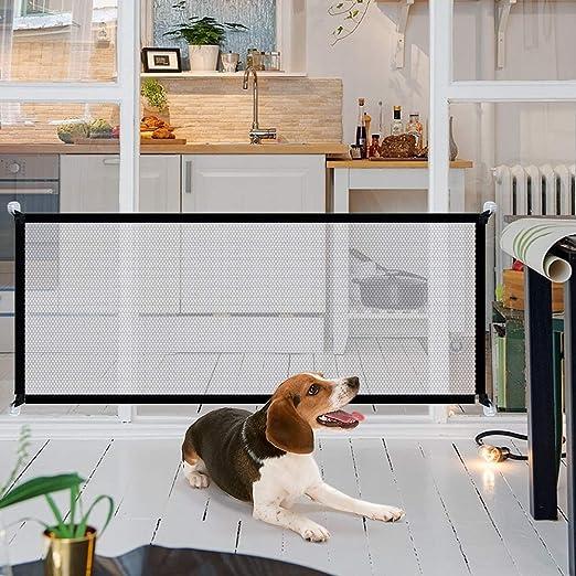 Barrera para perros de NIBESSER portátil para puerta plegable para perros, escaleras y escaleras: NIBESSER: Amazon.es: Productos para mascotas