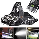 80000LM 5X XM-L T6 LED Rechargeable USB Headlamp Headlight Flashlight Torch LN