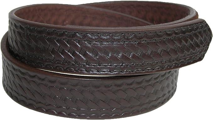 Boston Leather 5444-3-N Black High Ride Key Holder Belt Clip Basketweave