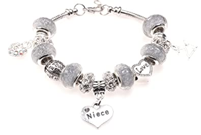 Special Niece 21st Birthday Charm Bracelet with Gift Box Women's Jewellery LAKTuXE