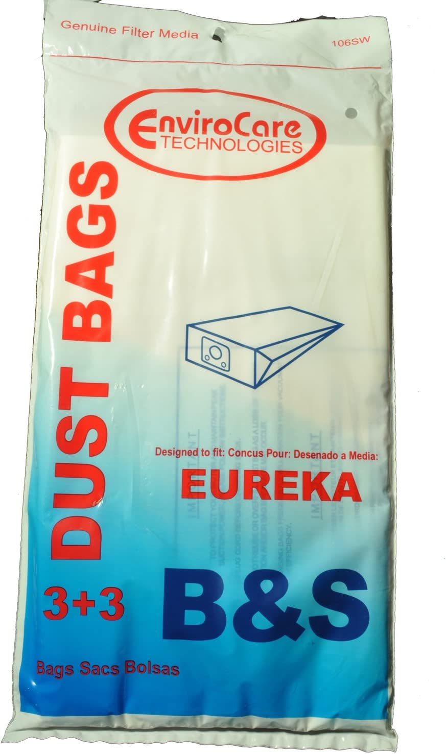 Eureka Style B, Eureka S Vacuum Bags