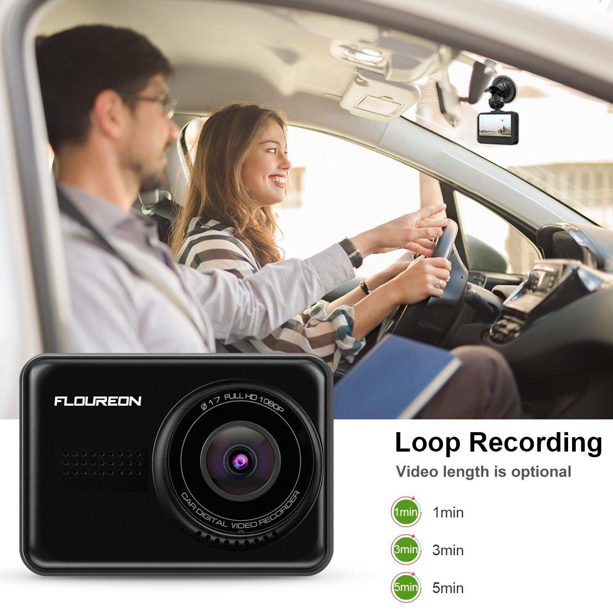 FLOUREON Dash Camera 2.45\