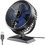 Gaiatop USB Desk Fan, Small But Powerful, Portable Quiet 3 Speeds Wind Desktop Personal Fan, Dual 360° Adjustment Mini Fan fo